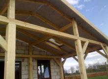 Drewniana konstrukcja budynku