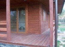 Drewniany dom, taras
